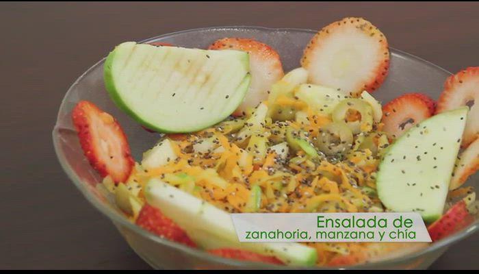 Ensalada de zanahoria, manzana y chía