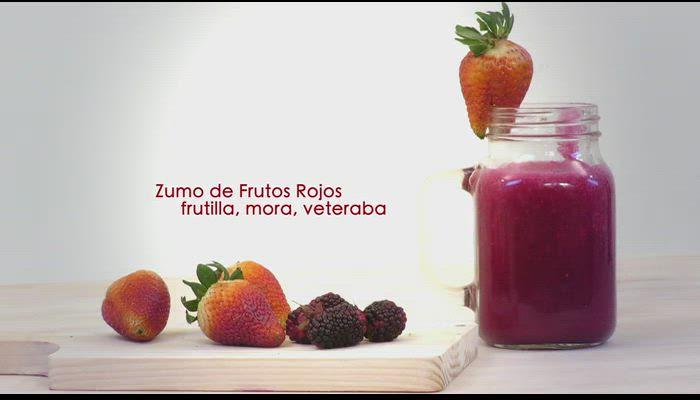 Zumo de frutos rojos