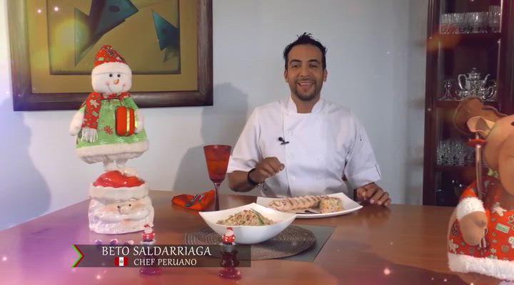 Pollo Enrollado con Arroz Navideño, la recomendación del Chef Beto